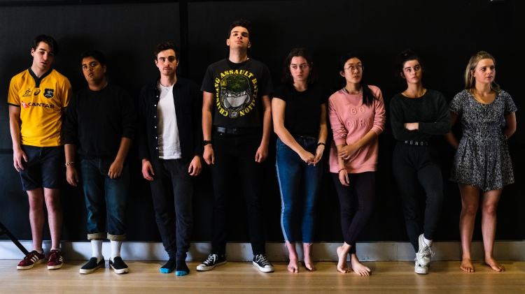 The Street Theatre cast during rehearsals, 2019 Photo by Jessica Conway, Stitch Communications